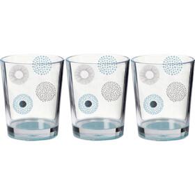 Brunner Zestaw szklanek SAN, szary/przezroczysty